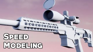 Speed Modeling: Sniper Rifle