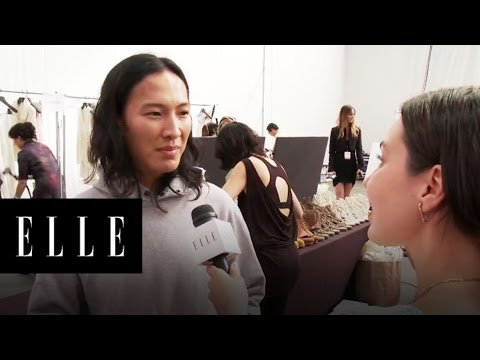 Backstage with Alexander Wang - NY Fashion Week Spring 2011 - ELLE Magazine
