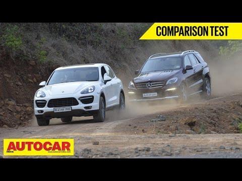 Mercedes-Benz ML 63 AMG vs Porsche Cayenne Turbo | Comparison Test | Autocar India