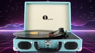 Portable Vinyl briefcase styled turntable by 1byone REVIEW!
