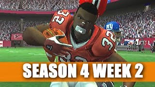 HEADING FOR WIN 1? - FALCONS FRANCHISE VS GIANTS - MADDEN 07 PS2 - S4W2