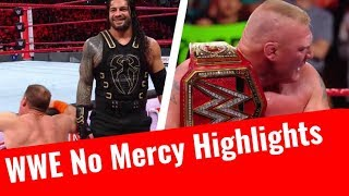 WWE No Mercy 2017 Highlights HD Results Winners In Hindi 24 September 2017 Classy Wrestling Reailty