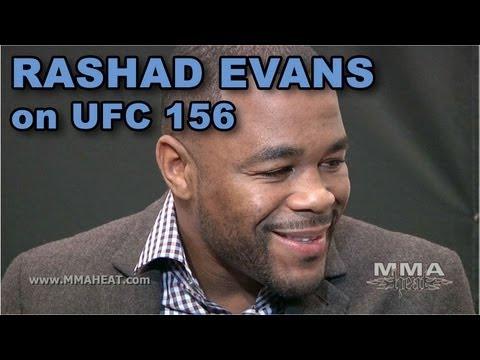 UFC 156 Rashad Evans on Facing Little Nog Loving MMA After Jones Loss  Training With Belfort