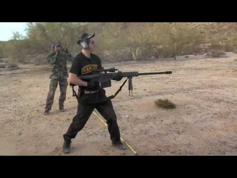 Hip fire Barrett .50 Cal