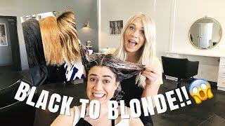KIM K TRANSFORMATION | black to blonde in one day!