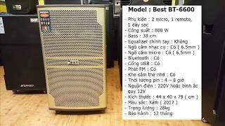 Nhạc Sống Cuối Tuần - Review Loa Kéo Best BT-6600 Công Suất 800W
