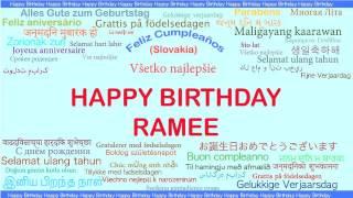 Ramee   Languages Idiomas - Happy Birthday