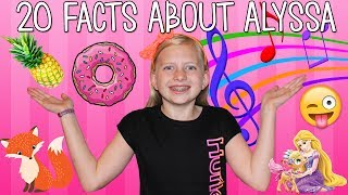 20 Questions with Alyssa!!  Fun Facts You Didn't Know About Alyssa from Family Fun Pack