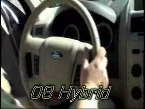 2006 and 2008 Ford Escape Hybrid comparison