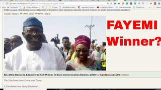 INEC OFFICIAL RESULTS OF EKITI ELECTION - FAYEMI FAYOSE