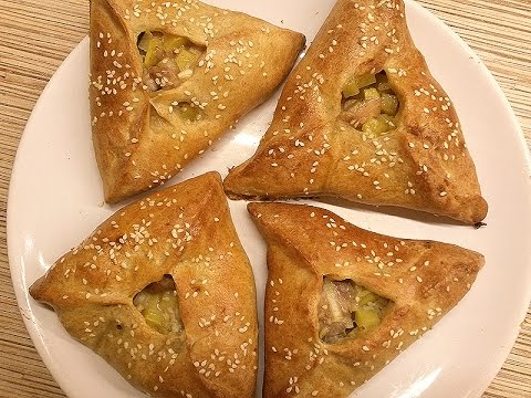 Треугольник из курицы с картофелем пошаговый рецепт 26