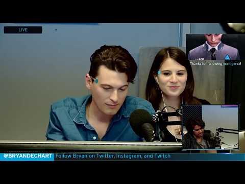 Bryan Dechart aka Connor Plays Detroit: Become Human w/ Amelia Rose Blaire - Full Stream #1