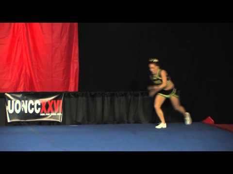 University of Regina Cheerleading - PCA UONCC 2010 - Female Tumble Comp - Alex