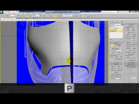 Iron Man 3d Model Tutorial Modelling Iron Man Helmet