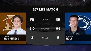 157 LBS: #1 Jason Nolf (Penn State) vs. Josh Humphreys (Lehigh) | Big Ten Wrestling