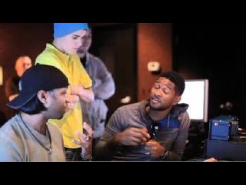 Under The Mistletoe Webisode - Usher and Justin in the Studio (The Christmas Song - Chestnuts) Music Videos