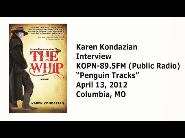 """Karen Kondazian on KOPN-89.5FM (Public Radio) """"Penguin Tracks"""""""