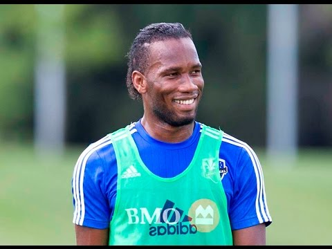 Didier Drogba practices with new Impact teammates