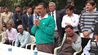 CM Arvind Kejriwal visits his New Delhi Constituency Addresses People