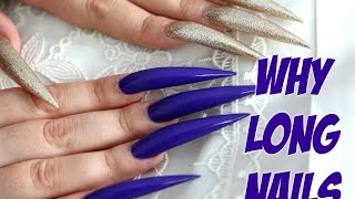 WHY DO I LIVE WITH SUCH LONG NAILS  | STILETTO NAILS CHALLENGE