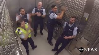 Police Fill Elevator Silence With Sick Beats