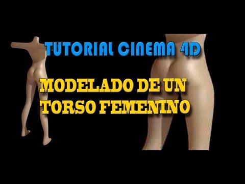 TUTORIAL CINEMA 4D -  MODELAR UN CUERPO FEMENINO