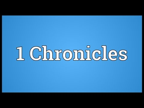 Header of 1 Chronicles