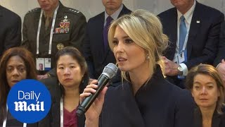 Ivanka Trump speaks at Munich Security Conference for the WGDP