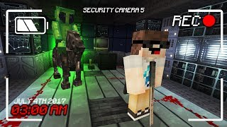 FIGHTING A CUSTOM CREATURE AT 3:00AM.... (Minecraft SCARY MAP!)