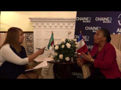 Christiane Taubira, Ministre Française de la Justice l'Invité de la rédaction de la chaine 3