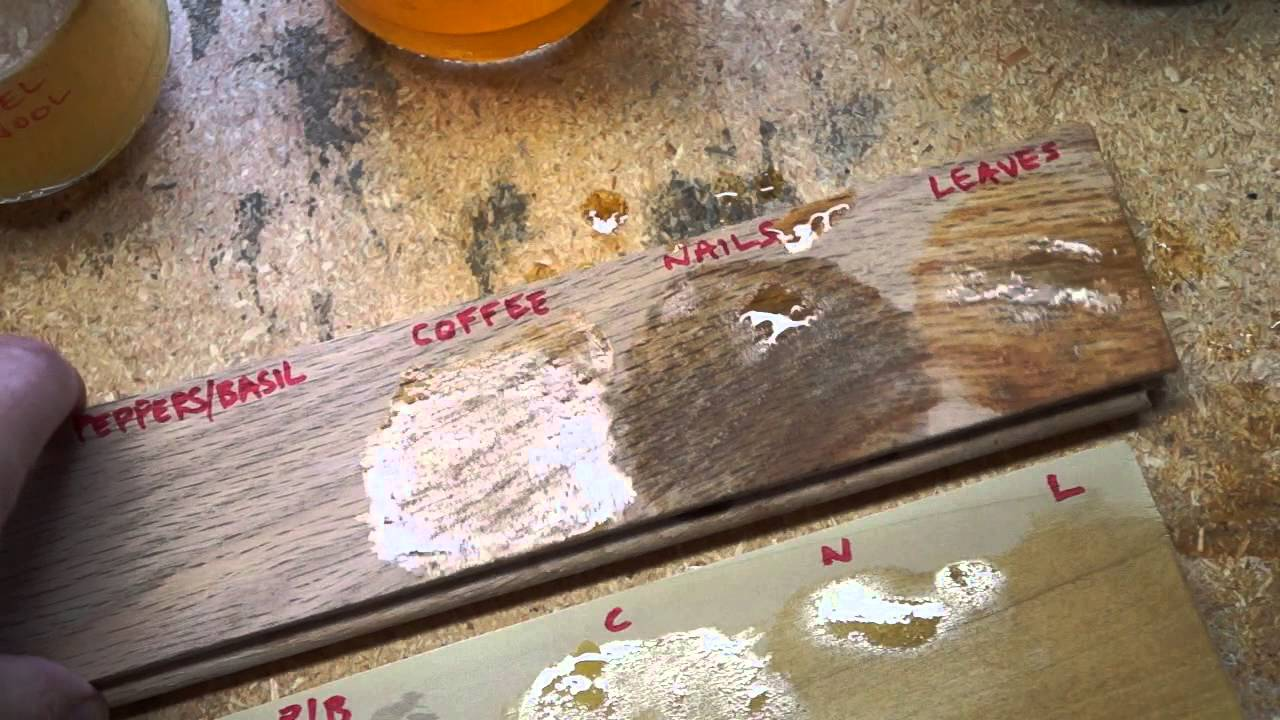 Vinegar Stain Results On Oak And Poplar Youtube