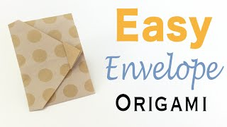 Easy☺︎Origami Paper Envelope Tutorial - Origami Kawaii