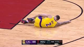Lonzo Ball Ankle Injury   Lakers vs Rockets   January 19, 2019   2018 19 NBA Season