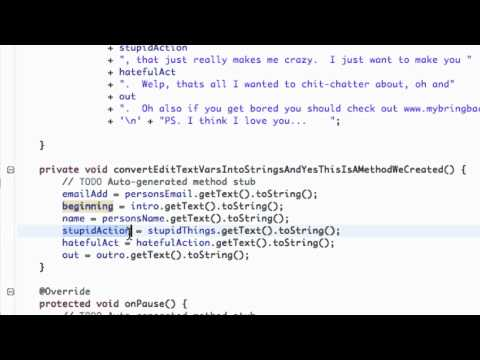 Android Application Development Tutorial - 36 - Setting up An Email Activity