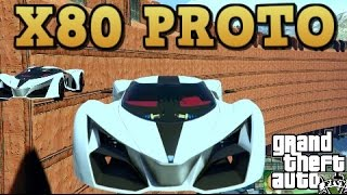 GTA 5 - X80 PROTO ONLY STUNT RACE - No On Ramps ;) ( custom race with Link )