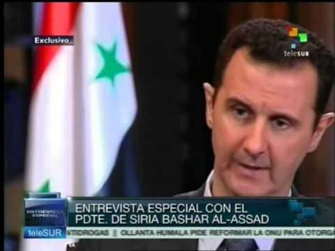 Entrevista Especial con el presidente de Siria Bashar Al-Assad, TeleSur