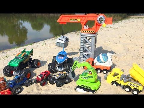 СТРОИТЕЛЬСТВО ВОДНЫХ ГОРОК с игрушечными машинками
