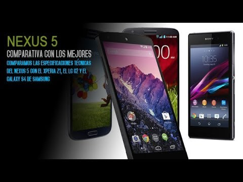 Nexus 5 vs Sony Xperia Z1 vs Samsung Galaxy S4 vs LG G2. Comparativa