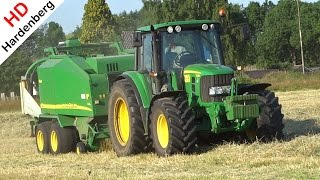 John Deere 6430 with John Deere 678 MaxiCut | Baling and Wrapping | Gert v. d. Brink | NL | 2015.
