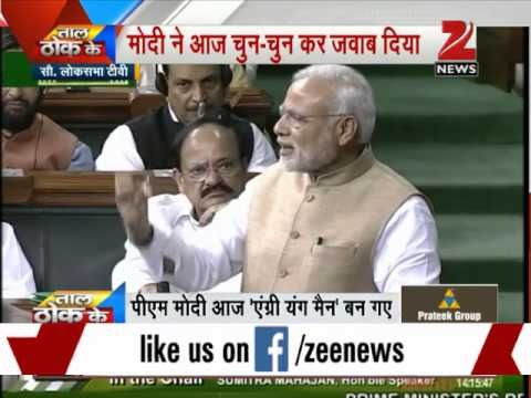 PM Modi takes on Opposition during Parliament speech