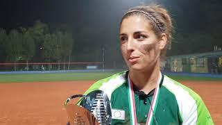 La MVP Marta Gasparotto al termine delle Italian Softball Series