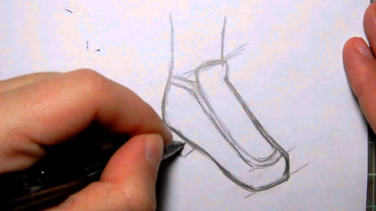 How To Draw Manga Shoes School Girl Shoes - YouTube