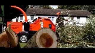 Timberwolf TW230DHB Wood Chipper in action