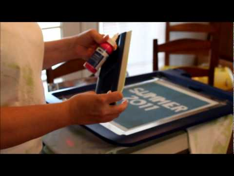 How To Screen Print With The Yudu Machine By