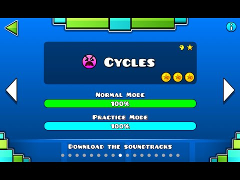 geometry dash cycles 100% complete youtube