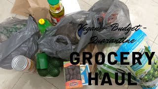$50 Budget Vegan Grocery Haul During Quarantine | The Discount Vegan