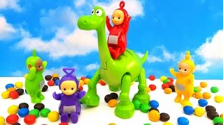 TELETUBBIES toys and Fun with Dinosaur. Friendly Video for Kids