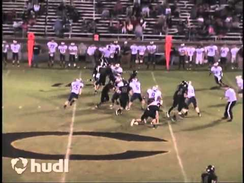 Brody White Crossville High School Jr Year Football Highlights 2013