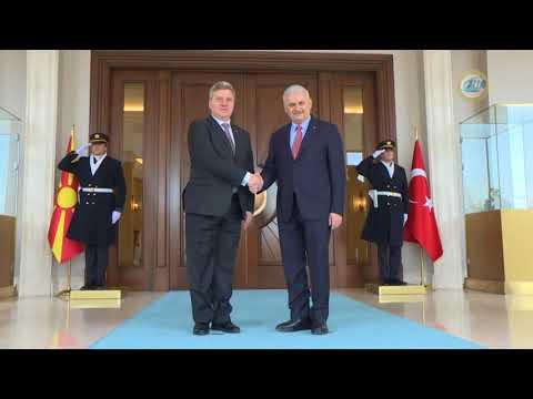Başbakan Yıldırım, Makedonya Cumhurbaşkanı Ivanov'u Kabul Etti