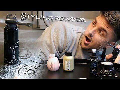 Testing styling powder for medium short hair in the new Slikhaar Studio franchice